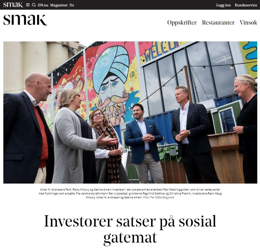Faksimile fra DN Smak - Investorer og grundere utenfor Vippa.