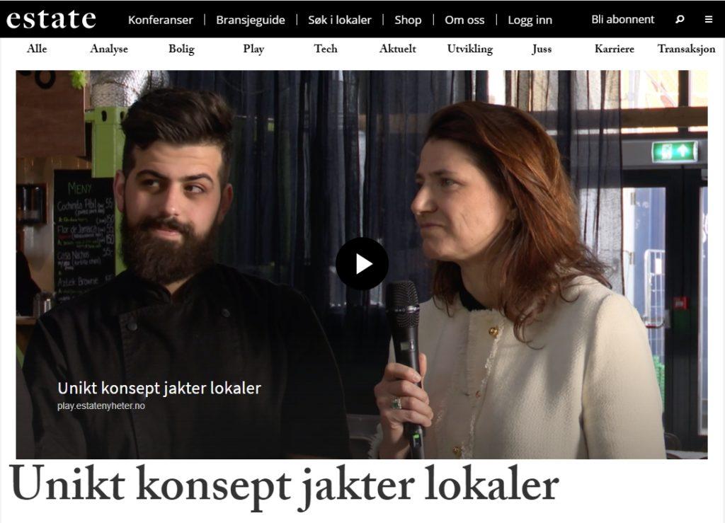 Kjøkkensjef Mohammed Zaghmout og Sonja Horn